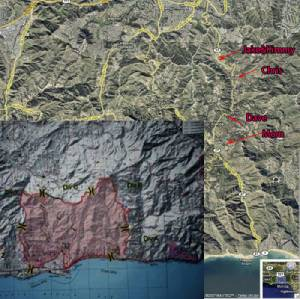 Topanga Canyon Fire Map as of 10/23/07 6am